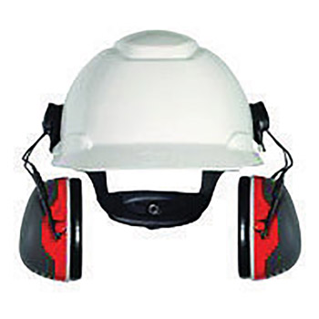 3M 3MRX3P3E Peltor Black And Red Model X3P3E/37277(AAD) Cap Mount Hearing Conservation Earmuffs