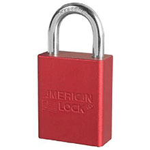 American Lock Red Padlock 1 1 2in Solid Aluminum Body 1105RD