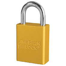 American Lock Yellow Padlock 1 1 2in Solid Aluminum 1105YW