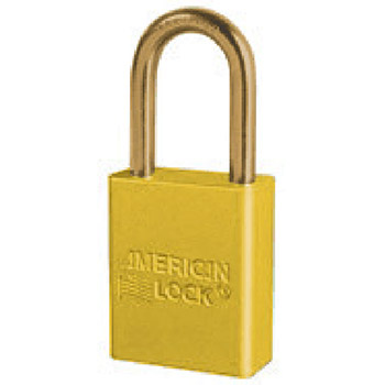 American Lock Yellow Aluminum Non Rekeyable Padlock 1106YW