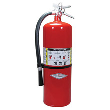 Amerex A61A411 20 Pound Stored Pressure ABC Dry Chemical 10A:120B:C Multi-Purpose Fire Extinguisher For Class A, B And C Fires With Anodized Aluminum Valve, Wall Bracket, Hose And Nozzle