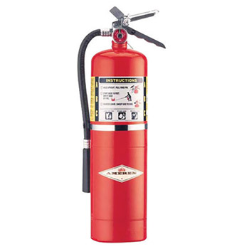 Amerex A61B456 10 Pound Stored Pressure ABC Dry Chemical 4A:80B:C Steel Multi-Purpose Fire Extinguisher For Class A, B And C Fires With Anodized Aluminum Valve, Wall Bracket, Hose And Nozzle