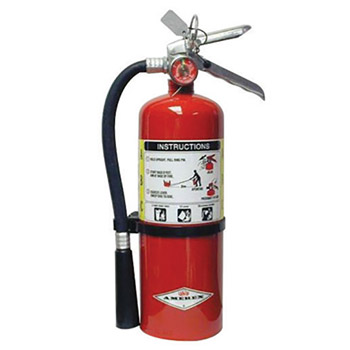 Amerex A61B500 5 Pound Stored Pressure ABC Dry Chemical 2A:10B:C Multi-Purpose Fire Extinguisher For Class A, B And C Fires With Anodized Aluminum Valve, Wall Bracket, Hose And Nozzle