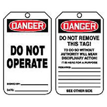 Accuform Signs 5 7 8in X 3 1 8in PF Cardstock Accident Prevention MDT189CTP