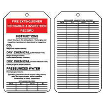 Accuform Signs 5 7 8in X 3 1 8in PF Cardstock Fire Extinguisher MGT208CTP