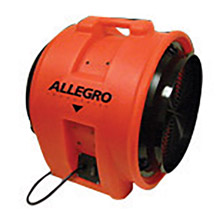 "Allegro ALE9539-16 COM-PAX-IAL 16"" 3200 cfm 1 hp 115 VAC Polyethylene Light Weight Portable Industrial Blower With On-Off Switch And Built In Carry Handle"