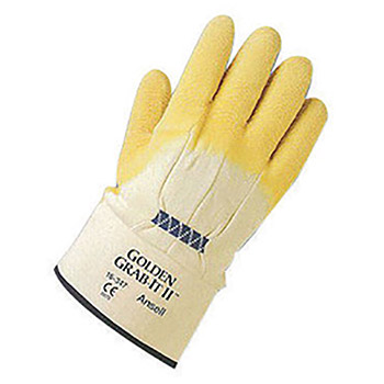 Ansell Golden Grab-It II Heavy Duty Cut Resistant ANE16-347-10 Size 10