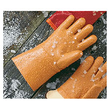 Ansell Edmont Cold Weather Gloves 10 Orange Winter Monkey Grip Jersey 204827