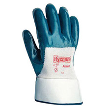 Ansell ANE27-600-9 Size 9 Hycron Heavy Duty Multi-Purpose Cut And Abrasion Resistant Blue Nitrile Palm Coated Work Gloves With Jersey Liner And Knit Wrist