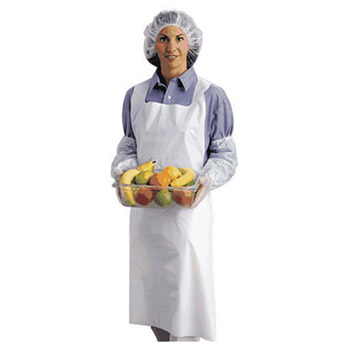 "Ansell ANE54-290-28X45 28"" X 45"" White 1.75 mil Embossed Polyethylene Disposable Apron"