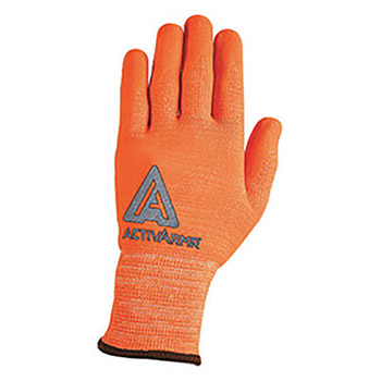 Ansell Hi-Viz Orange ActivArmr Seamless Knit 13 ANE97-013-10 Size 10