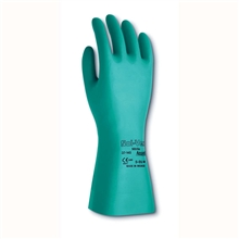 Ansell Edmont Nitrile Gloves Green Sol Vex 13 in Unlined 11 mil