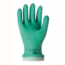 Ansell Edmont Nitrile Gloves Green Sol Vex 13 in Flock Lined 15 mil