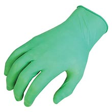 "SHOWA Best Glove Green 9 1-2"" Derma Thin 5 mil B131005M Medium"