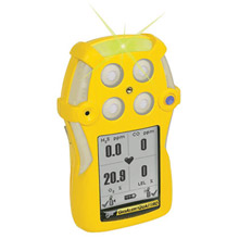 BW Technologies B86QTXWHMAYNA Yellow GasAlertQuattro Portable Combustible Gas, Carbon Monoxide, Hydrogen Sulphide And Oxygen Monitor With Alkaline Battery