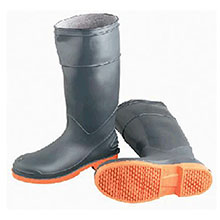 Bata Shoe PVC Boots Size 9 SureFlex Gray Orange Kneeboots 87982-9