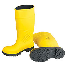 Bata Shoe PVC Boots Size 6 Yellow 15in Polyurethane 88121-06