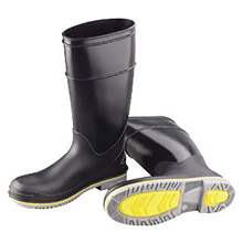 "Onguard Industries BAS89908-8 Size 8 Flex3 Black 16"" Polyblend PVC Knee Boots With Power-Lug Outsole, Steel Toe And Removable Insole"