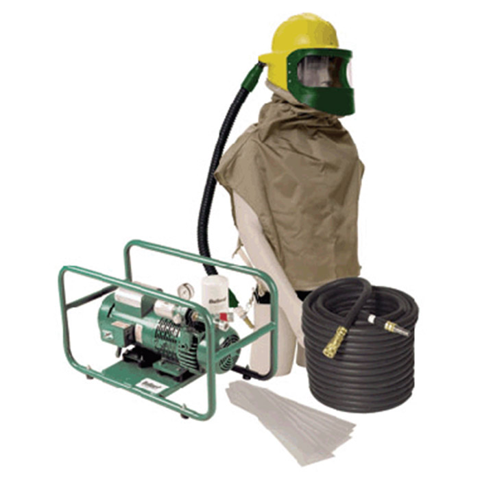 Bullard 88VXSYS16TE Complete Supplied Air System With 88VX Respiratory  Assembly ADP30 Free-Air Pump 50' Hose And Frigitr