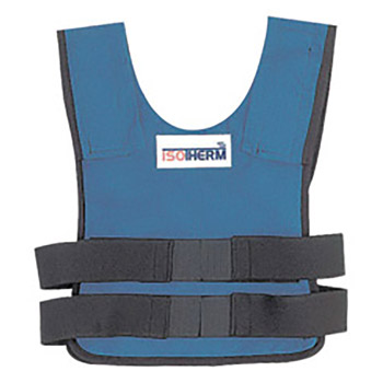 Bullard BULISO2 Medium - Large Blue Isotherm II Proban Treated Cotton Cooling Vest With Hook And Loop Closure And -2- Cool Packs