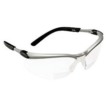 3M CAS11375-00000 BX 2.0 Diopter Safety Glasses With Silver Black Nylon Frame And Clear Polycarbonate Anti-Fog Lens