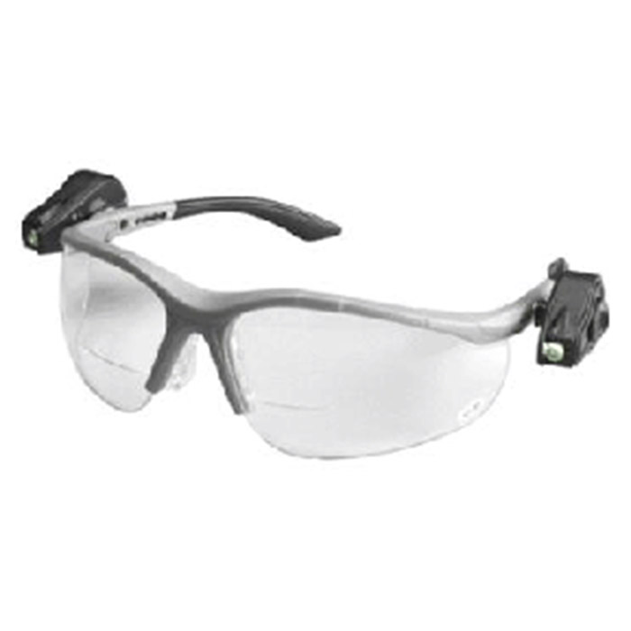 AOSafety Nuvo Reader Safety Glasses Clear Lens Gray Frame 2.5 Dopter