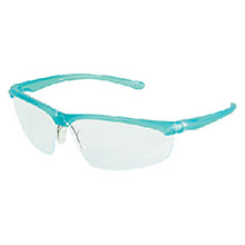 ad72ac33c8 Aearo 3M 11737-00000 Refine 203 Safety Glasses With Teal Frame And Clear  Polycarbonate Indoor Outdoor Mirror Lens