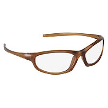 79b1f6e565 Aearo 3M 11740-00000 Refine 103 Safety Glasses With Mocha Frame And Clear  Polycarbonate Indoor Outdoor Mirror Lens