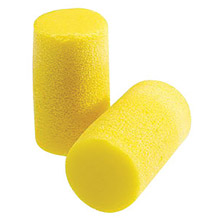 3M CAS310-1101 Large Single Use Classic Classic Plus Cylinder Shape PVC Foam Uncorded Earplugs