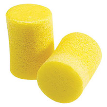 3M CAS312-1201 Single Use Classic Cylinder Shape PVC Foam Uncorded Earplugs