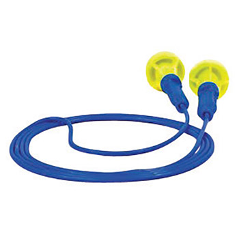 3M CAS318-1005 Multiple Use Push-Ins Push-to-Fit Polyurethane Foam Corded Earplugs With Vinyl Cord