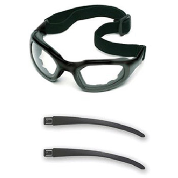 Aearo 3M Safety Glasses Maxim 2X2 Impact Goggles Black Nylon 40686-00000