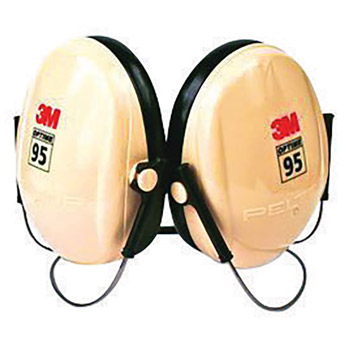 3M CASH6B/V Peltor Optime 95 Black And Beige ABS Behind-The-Head Hearing Conservation Earmuffs