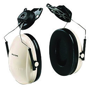 3M CASH6P3E/V Peltor Optime 95 Black And Beige ABS Helmet Mount Hearing Conservation Earmuffs