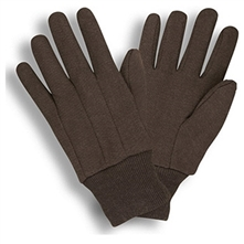 Cordova Jersey Work Gloves Polyester/Cotton, Brown Jersey 1400RC1 and 1402RC1