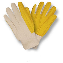 Cordova Work Gloves Yellow Chore Canvas Back Natural Knit 2316