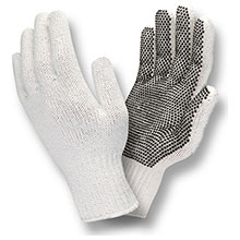 Cordova Work Gloves Bleached White Machine Knit PVC Dots 1 3800