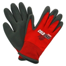 Cold Snap Flex, Two Ply Nylon Shell, Black Foam PVC Palm Coating, Red Nylon Shell, Brushed Acrylic Terry Lining, Per Dz