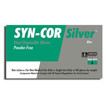Cordova 4072 Syn-Cor Blue Disposable Gloves
