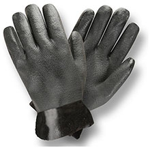 Cordova 5110J Black Double-Dipped PVC glove