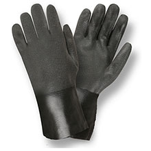 Cordova 5112SI Black Double Dipped PVC Gloves
