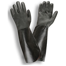 Cordova 5118I Black Double Dipped PVC Gloves