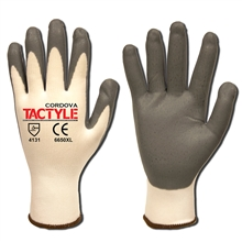 Cordova 6650 Tactyle White Nylon Glove 13-Gauge