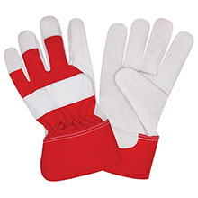 Cordova Leather Palm Gloves Premium Grain Goat Red Canvas 8650L