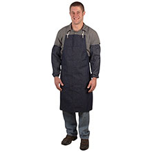 Cordova Denim Apron Grommets Ties 1 Chest DA2