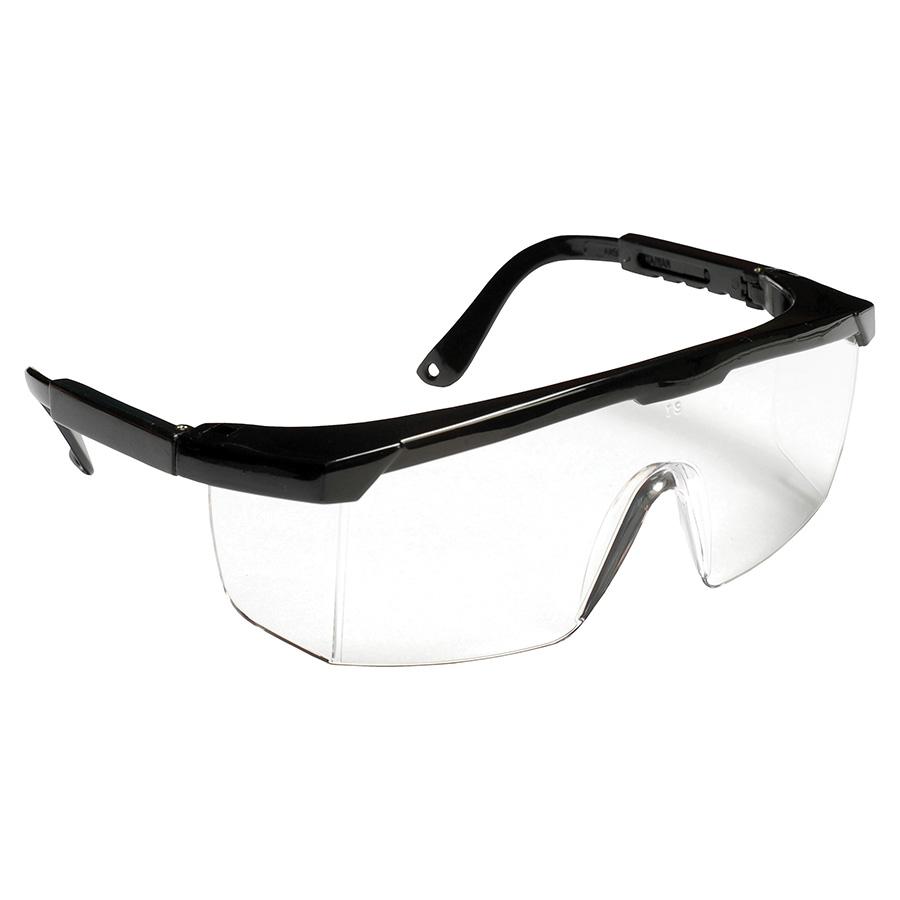 cordova ejb10st retriever black safety glasses clear antifog lens black frame integrated side shields