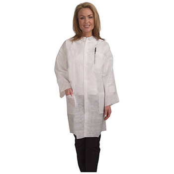 Cordova Heavy Weight White Polypropylene Lab Coat LC55