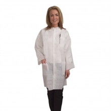 Cordova Heavy Weight White Polypropylene Lab Coat LC55EP