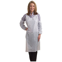 Cordova 1.25mm White Polyethylene Apron Embossed PA2846