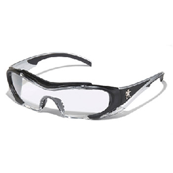 Crews Safety Safety Glasses Hellion Black Silver HL110AF